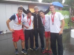 4x100 mètres - MAN Vice champions suisses Avec Sylvain Rayroud